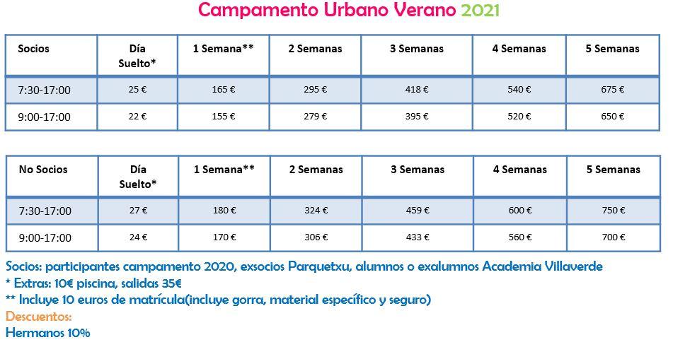 precios-campamento-2021-academia-villaverde
